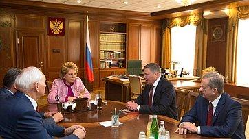 Встреча Председателя СФ сруководителями Вологодской области
