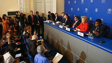 Пресс-конференция поитогам 137-й Ассамблеи Межпарламентского союза