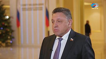 В.Тимченко оработе комитета СФ поРегламенту иорганизации парламентской деятельности