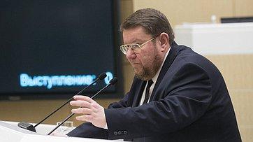 На421-м заседании СФ входе «Времени эксперта» выступил президент Института Ближнего Востока Е.Сатановский