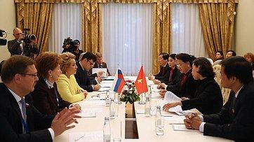 В. Матвиенко провела встречу сПредседателем Национального собрания Социалистической Республики Вьетнам Нгуен Тхи Ким Нган