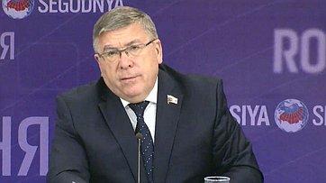 Валерий Рязанский подвёл итоги работы Комитета СФ посоциальной политике загод впресс-центре МИА «Россия сегодня»