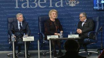 Лилия Гумерова приняла участие вработе «круглого стола» потеме «Кто сможет стать владельцем регионального бренда?» впресс-центре «Парламентской газеты»