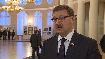 К. Косачев оработе сессии МПА СНГ