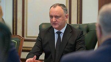 Председатель СФ В.Матвиенко провела встречу сПрезидентом Молдавии И.Додоном