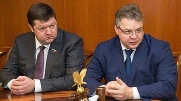 Встреча В. Матвиенко сГубернатором Ставропольского края