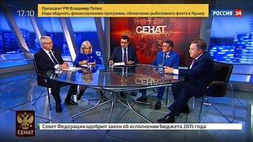 Ситуация вСирии— взгляд сенаторов. Программа «Сенат» телеканала «Россия 24»