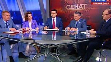 Помощь Юго-Востоку Украины. Программа «Сенат» телеканала «Россия 24»