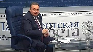 В. Павленко— гость видеопередачи «Знакомство ссенатором»