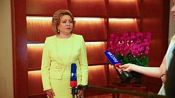 Брифинг В. Матвиенко поитогам официального визита вКНР