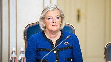 Встреча В. Матвиенко сПредседателем Первой палаты Генеральных Штатов Нидерландов Анки Брукерс-Кнол