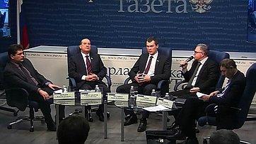 Алексей Александров и Евгений Тарло приняли участие в пресс-конференции «Итоги Ялтинской конференции 70 лет спустя. Принципы формирования нового порядка»