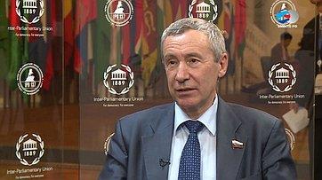 Андрей Климов оначале работе 137-й Ассамблеи МПС вСанкт-Петербурге