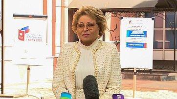 Брифинг Председателя СФ В. Матвиенко обОбщероссийском голосовании повопросу одобрения изменений вКонституцию РФ