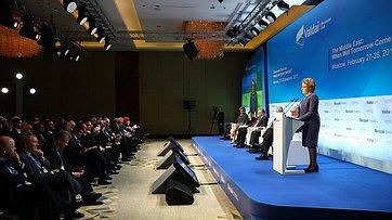 Председатель СФ выступила наоткрытии конференции «Ближний Восток: когда наступит завтра?»