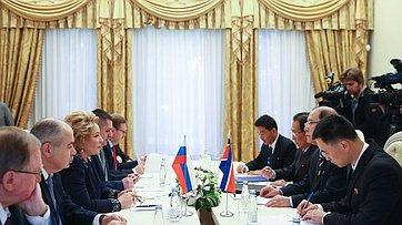 Встреча Председателя СФ сзаместителем Председателя Верховного народного собрания КНДР
