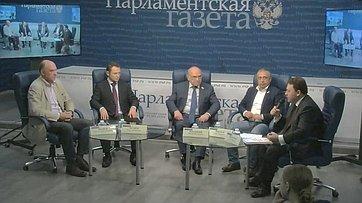 Виктор Рогоцкий принял участие вработе «круглого стола», посвященного решению проблем дольщиков, впресс-центре «Парламентской газеты»