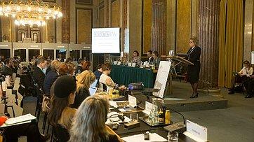 Выступление В. Матвиенко наконференции «Политика безопасности ОБСЕ– взгляд состороны женщин»
