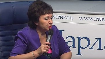Елена Бибикова приняла участие ввидеобрифинге врамках специального цикла «Пенсионный ликбез» впресс-центре «Парламентской газеты»