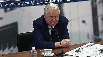 Николай Рыжков провел в пресс-центре «Парламентской газеты» встречу с журналистами