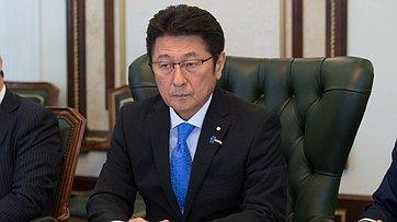 Встреча В.Матвиенко сглавой официальной делегации Палаты Советников Парламента Японии М.Мацуямой
