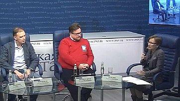 Людмила Бокова приняла участие в видеоконференции для региональных журналистов «Облачные технологии в России: возможно ли применение?» в пресс-центре «Парламентской газеты»