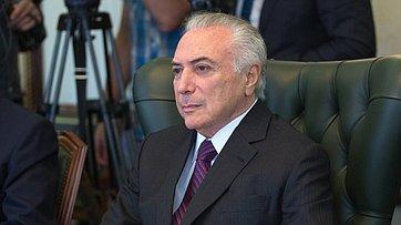 Встреча В. Матвиенко сПрезидентом Бразилии М. Темером