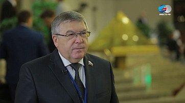 В. Рязанский осоциально-гуманитарных отношениях наТретьем форуме регионов Беларуси иРоссии