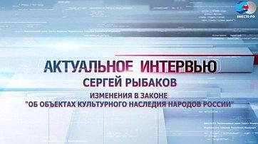 С. Рыбаков об изменениях в законе