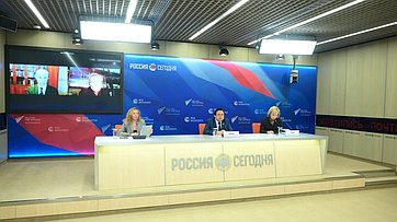 Александр Акимов иЕлена Зленко приняли участие воОнлайн-конференция натему «Экологическое благополучие Арктики иАнтарктики» вПресс-центре МИА «Россия сегодня»