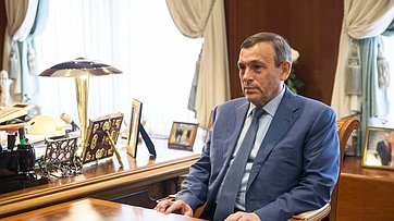 Встреча В.Матвиенко сгубернатором Республики Марий Эл А.Евстифеевым