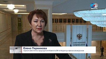 Е. Перминова обитогах парламентских слушаний вСовете Федерации ипараметрах бюджета Курганской области