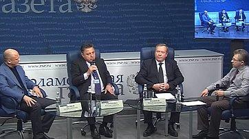 В. Тимченко принял участие вработе «круглого стола» потеме «Почему чиновники будут уходить напенсию в65?» впресс-центре «Парламентской газеты».