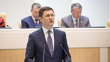 Врамках «правительственного часа» вСФ выступил Министр энергетики РФ А.Новак