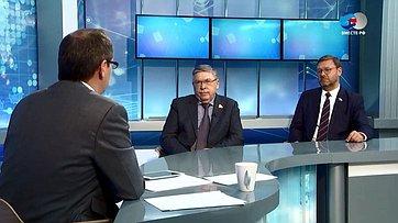 В. Рязанский иК. Косачев обитогах 477-го заседания Совета Федерации