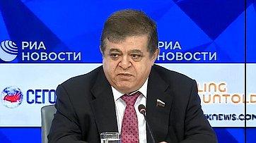 Владимир Джабаров принял участие вработе «круглого стола» натему «Саммит G20 вОсаке: стоитли ждать прорывных новостей?» впресс-центре МИА «Россия сегодня»
