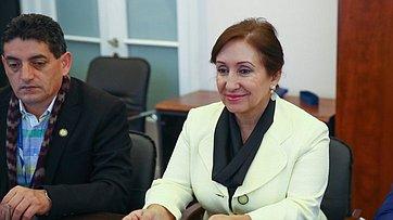 Встреча Е. Бушмина сглавой эквадорской делегации, членом Национальной ассамблеи Эквадора Дорис Солис