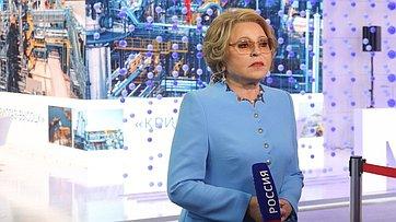 Интервью Валентины Матвиенко программе «60 минут» телеканала «Россия»