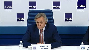 Пресс-конференция председателя Временной комиссии СФ поинформационной политике ивзаимодействию соСМИ Алексея Пушкова, посвященная дипломатическому иполитическому кризису между Россией иВеликобританией
