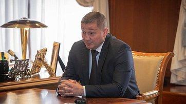 Встреча В. Матвиенко сгубернатором Волгоградской области А. Бочаровым