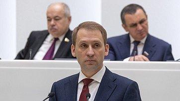 Врамках «Правительственного часа» на472-м заседании СФ выступил Министр поразвитию Дальнего Востока иАрктики А.Козлов