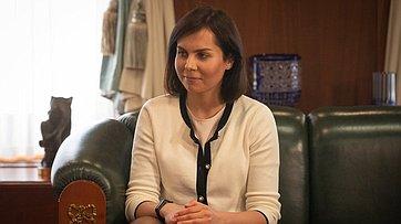 Встреча В.Матвиенко спобедителем конкурса «Лидеры России»