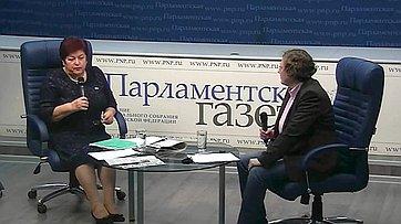 Людмила Козлова приняла участие в видеобрифинге в пресс-центре «Парламентской газеты»