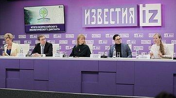 Алексей Майоров принял участие впресс-конференции, посвященной итогам Всероссийского экологического диктанта