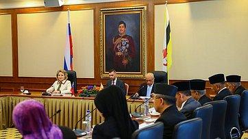 Выступление В. Матвиенко вПарламенте Брунея