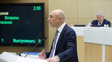 На443-м заседании СФ выступил Министр финансов А.Силуанов