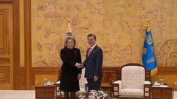 Встреча Председателя Совета Федерации сПрезидентом Южной Кореи