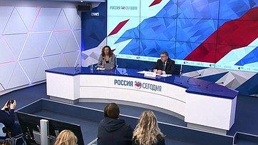 Валерий Рязанский принял участие впресс-конференции поактуальным вопросам социальной политики впресс-центре МИА «Россия сегодня»