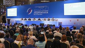 Выступление В. Матвиенко напленарном заседании V Международного гуманитарного Ливадийского форума