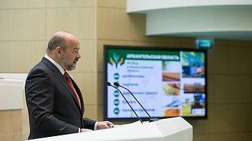Врамках «Часа субъекта» вСФ выступил губернатор Архангельской области И.Орлов